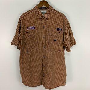 Columbia PFG LSU Super Bonehead Button Down Shirt